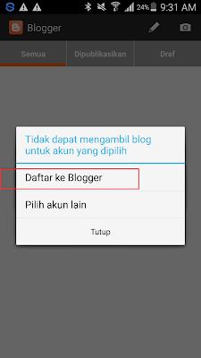 cara daftar di bloggger