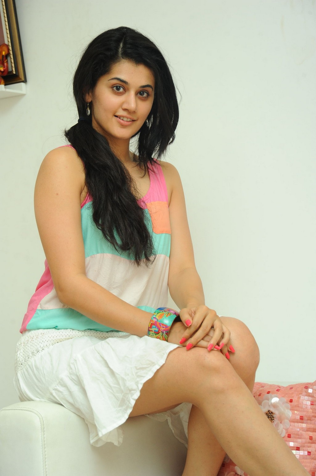 Spicy Taapsee Pannu Thighs Show Images In Short Tight Dress