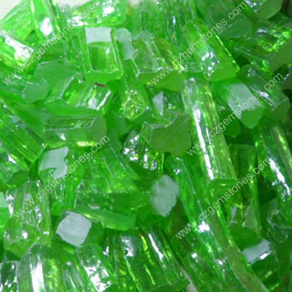 apple green synthetic Gems Wholesale