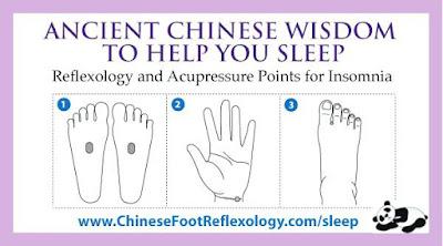 reflex points to massage for sleep