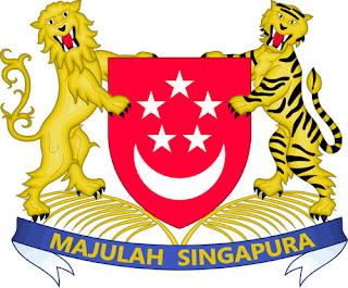 Gambar Lambang negara Singapura