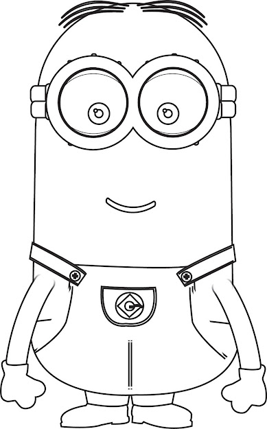 Kevin Stewart Bob Minion Coloring Pages Kevin The Minion Coloring Pages