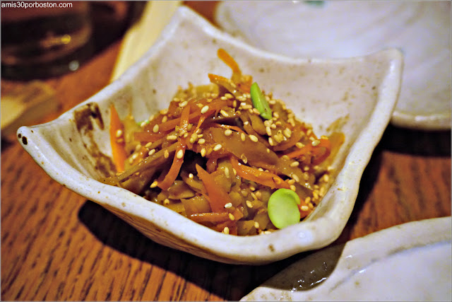 Gomoku Kinpira en el Restaurante Japonés Sakagura de Nueva York