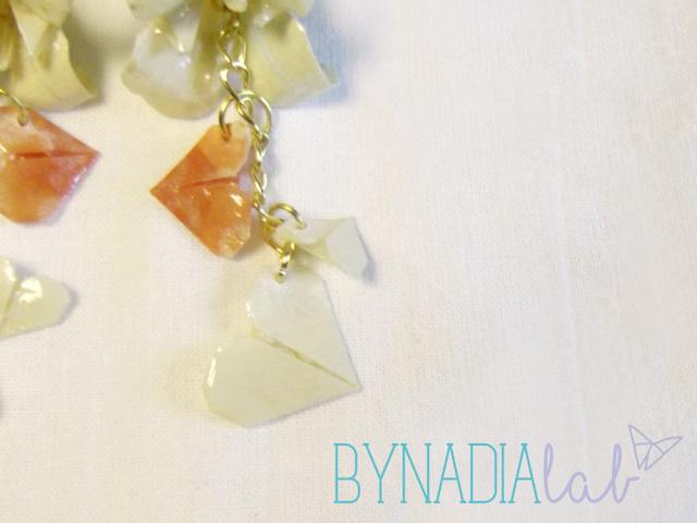 dettaglio cascata cuoricini origami - bynadialab