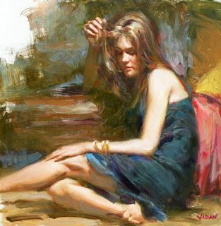 retratos-chicas-de-perfil-oleo