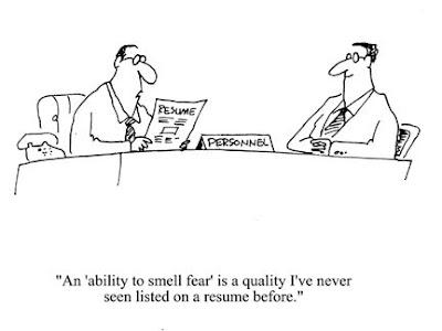 """""""La capacité de sentir la peur..."""" Je n'avais jamais vu ça dans un CV avant"""
