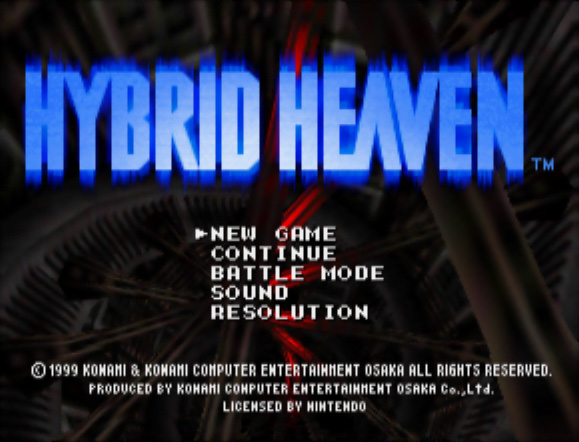 Hybrid Heaven menu screen