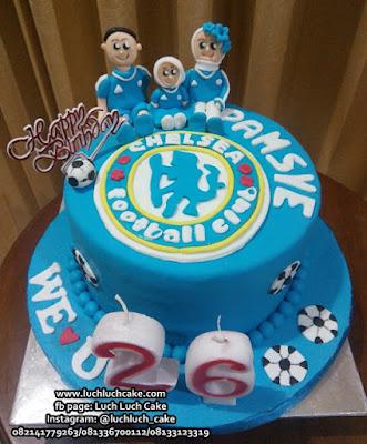 Kue Tart Chelsea Bola Keluarga