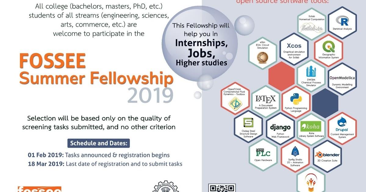 FOSSEE Summer Fellowship 2019