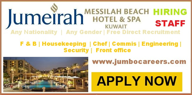 5 Star Jumeirah Messilah Hotel Kuwait Jobs With Free Visa