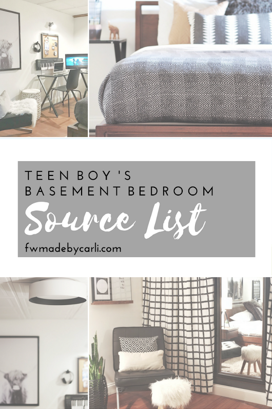 FEARFULLY & WONDERFULLY MADE: Teen Boy's Bedroom Source List