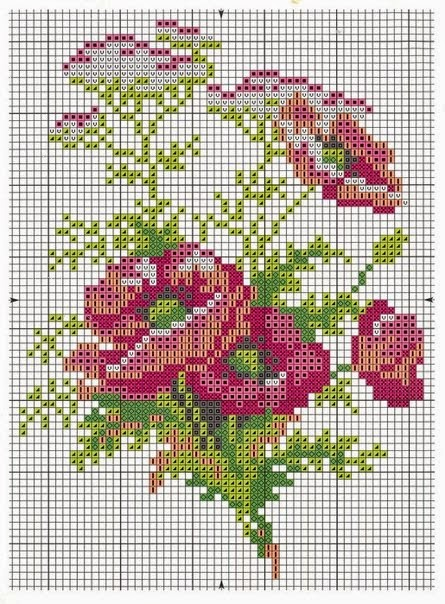 Творимо своїми руками  квіти вишиті хрестиком 7bee9fff2b7ff