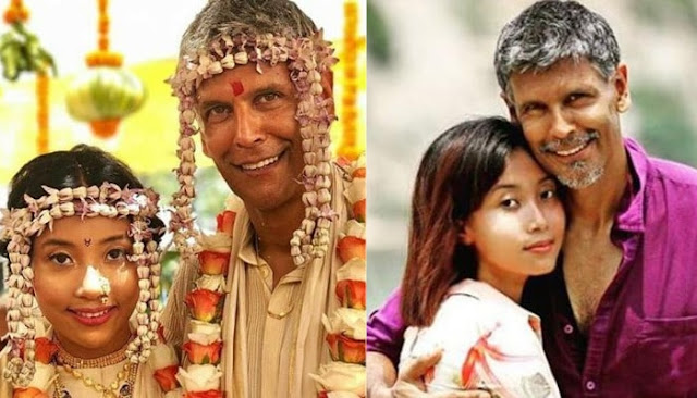 Bollywood Actor and Model Milind Soman and Ankita Lokhande