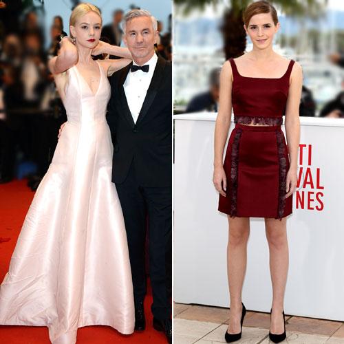 """aa7111377 Carey escolheu um longo Dior de cetim duchese (tecido pesado com brilho  intenso muito utilizado em vestidos de noivas) para a première de """"O Grande  Gatsby"""", ..."""