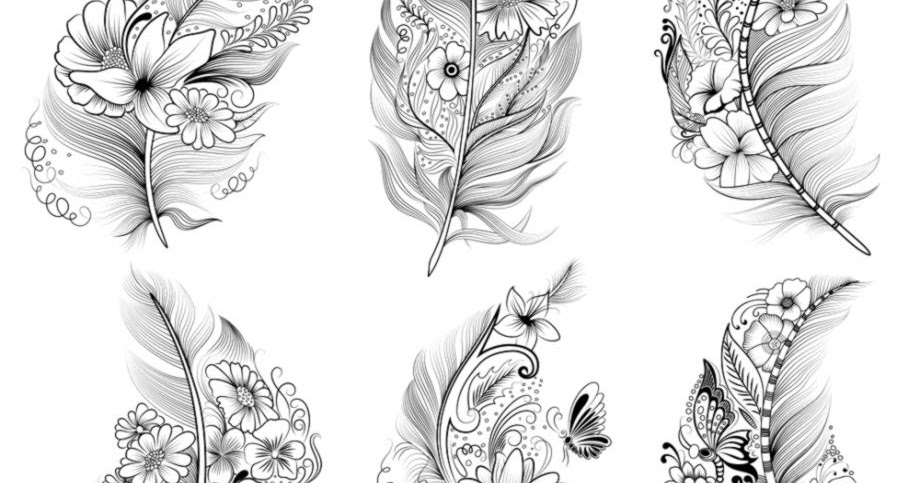 Feather Drawing Tattoo Wallpapers Turret
