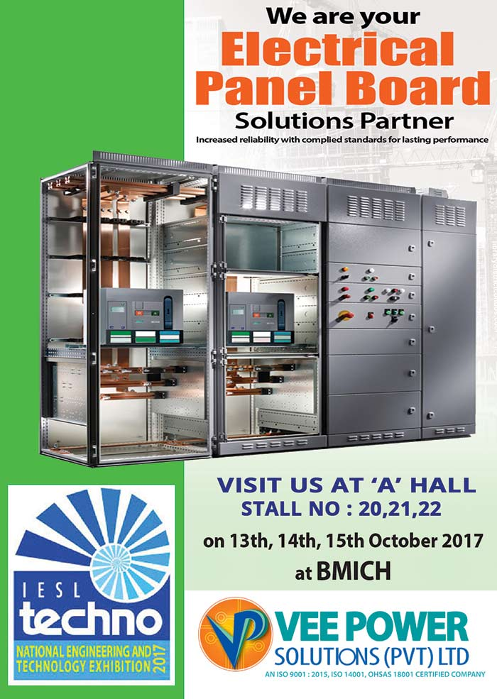 VEE Power cordially invite all valued customers to Techno 2017 at Hall -A