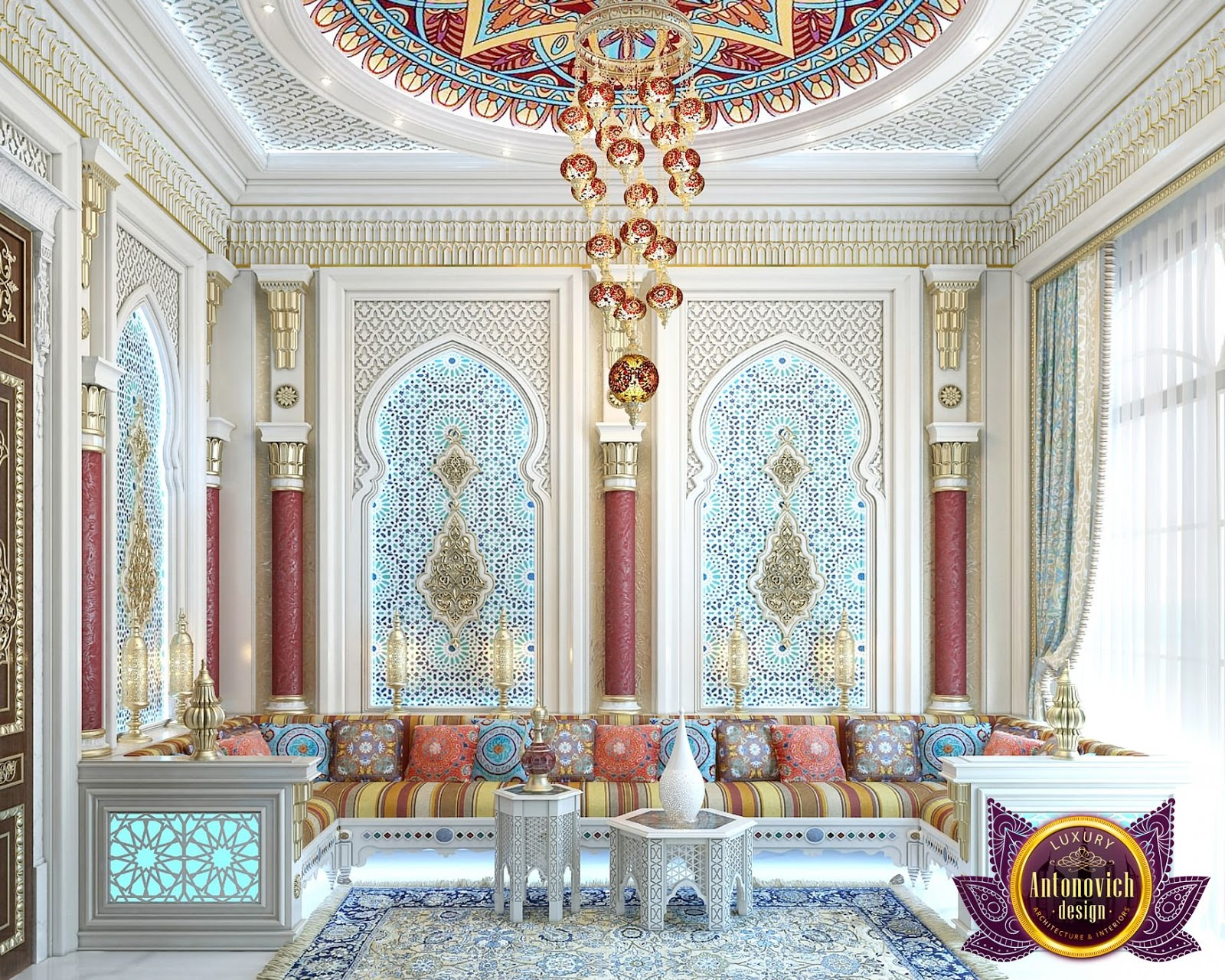 LUXURY ANTONOVICH DESIGN UAE: Moroccan sitting room of Katrina ...