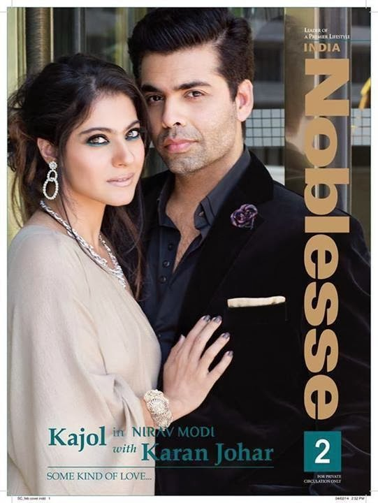Kajol Devgan & Karan Johar on the cover of Noblesse India