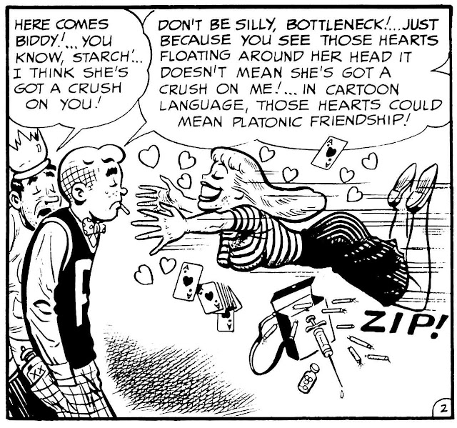 a Bill Elder story panel for 1950s MAD, Starchie