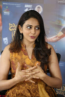 Rakul Preet Singh smiling Beautyin Brown Deep neck Sleeveless Gown at her interview 2.8.17 ~  Exclusive Celebrities Galleries 209.JPG