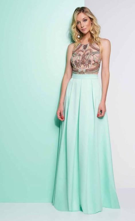 Vestido madrinha verde pastel