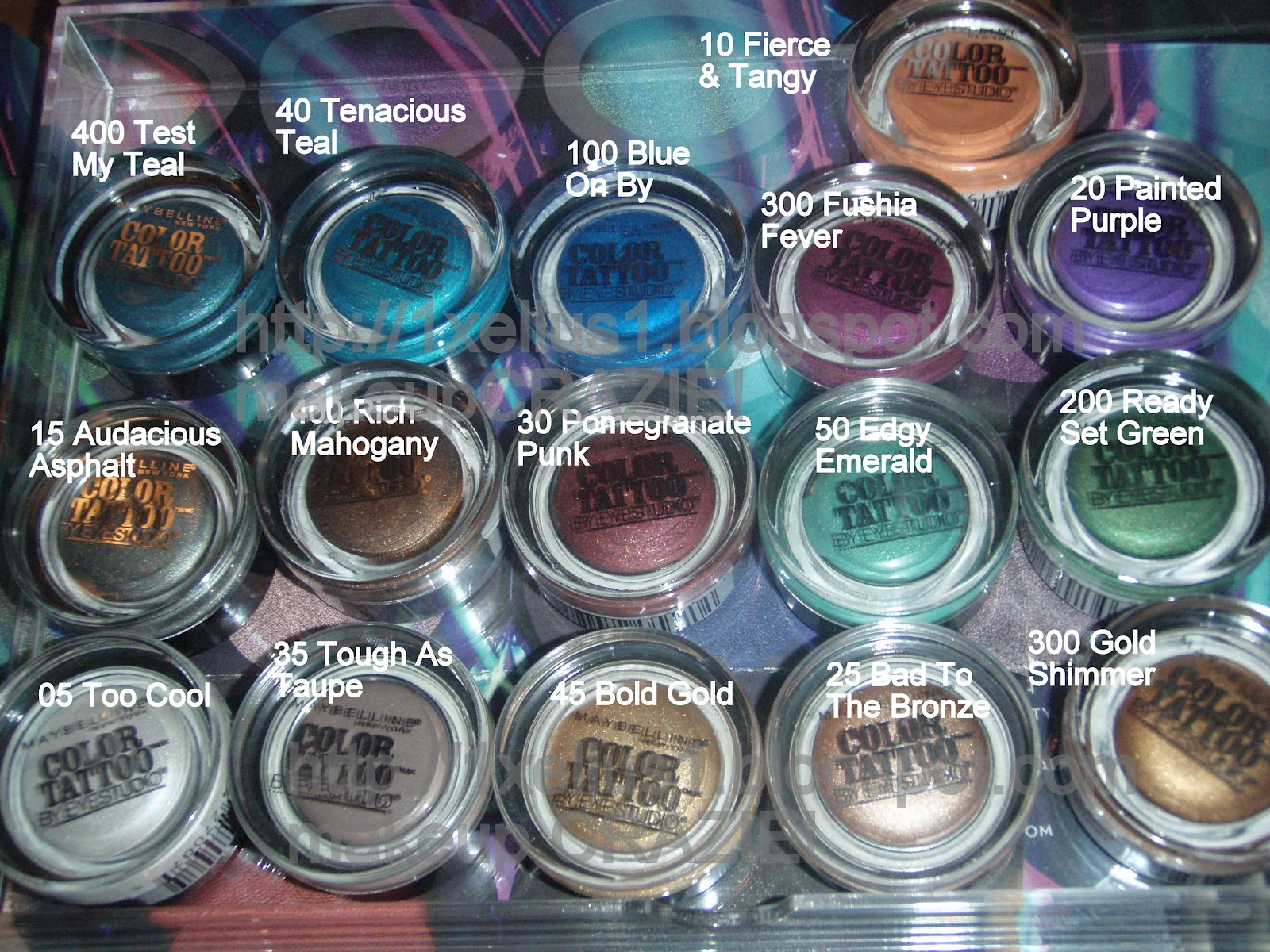 makeup CRAZIE!: Maybelline Color Tattoo Eyeshadows (New Ltd Edition ...