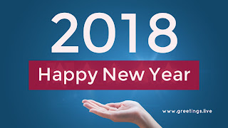Smart professional 2018 Greeting landing 2018 in hand