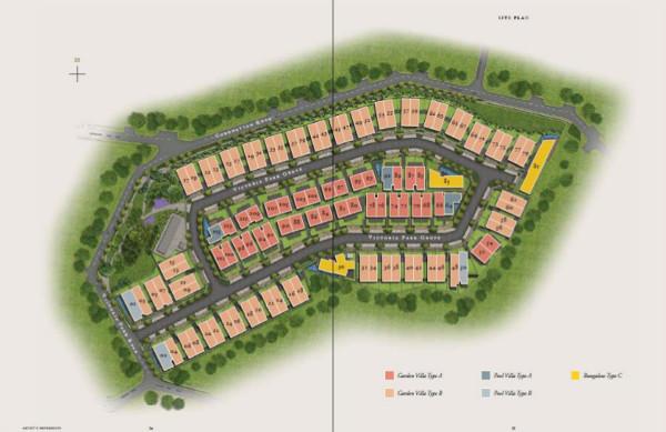 Victoria Park Villas Siteplan