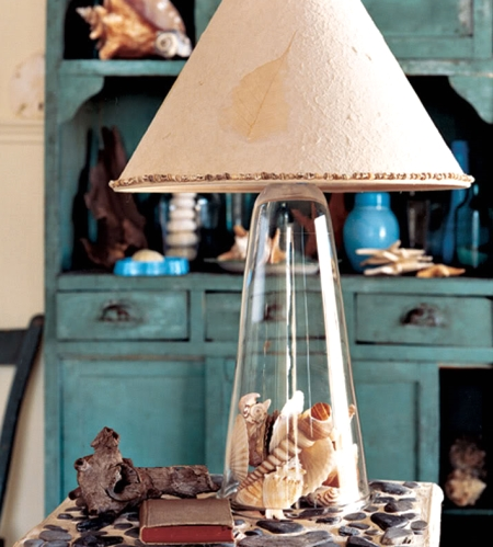 filled table lamp