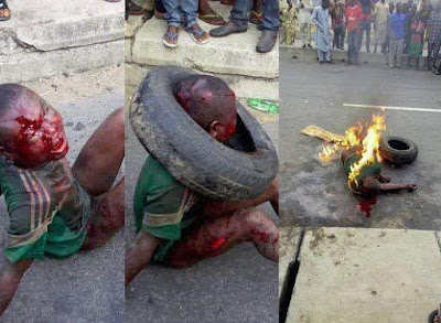 Police Recover Body Of The Young Man Burnt To Death For Stealing In Lagos on Saturday