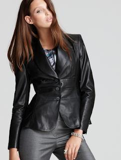 jaket kulit blazer wanita