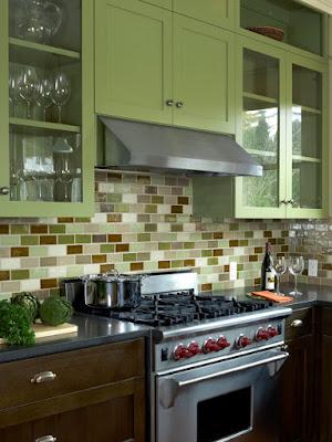 Imagens de Cozinhas em tons de verdes