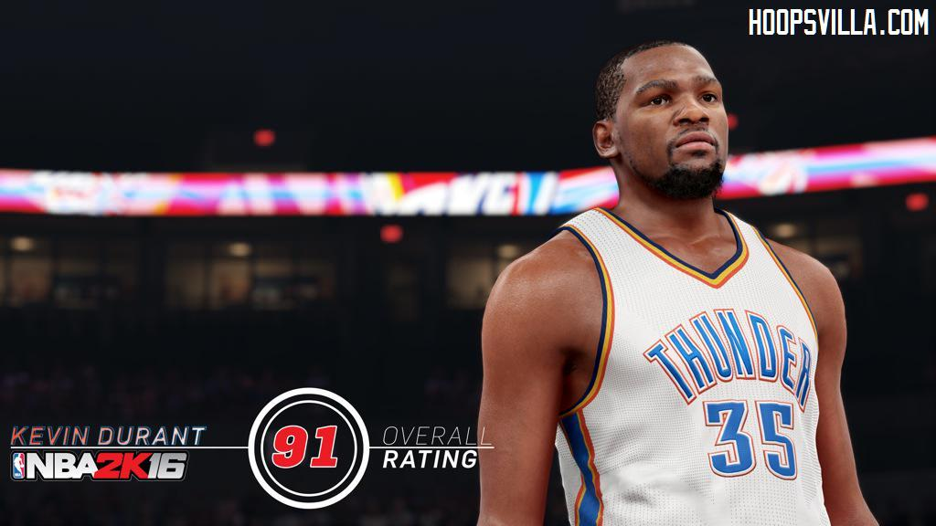 NBA 2K16 New Player Rating System : Kevin Durant Rating 91 - HoopsVilla