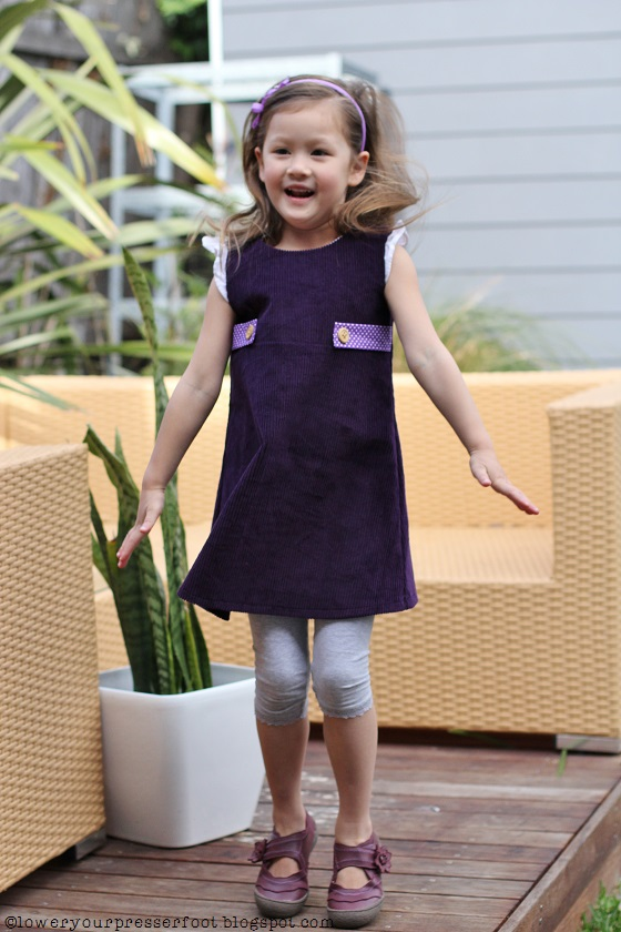 butterick-4273-purple-corduroy dress