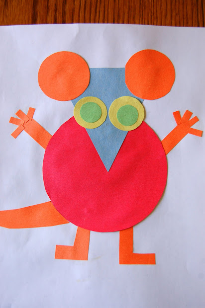 Mouse Shapes Activities for Kindergarten