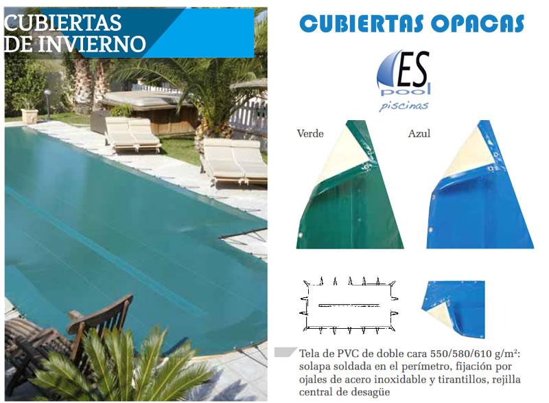 Cubiertas opacas para piscinas - Espool Piscinas.