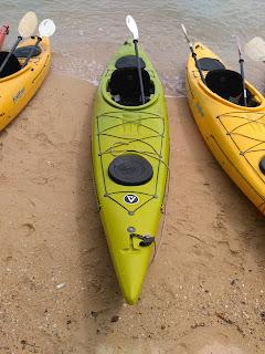 Comfortable touring kayaks in Phang Nga Bay National Park