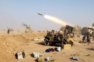 """الحشد الشعبي لليوم الرابع على التوالي .. قصف مواقع مهمة لـ""""داعش"""" شرقي تلعفر"""