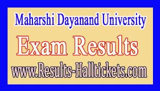 Maharshi Dayanand University Uttar Madhyama IIIrd Sem 2016 Exam Results
