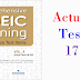 Listening Comprehensive TOEIC Training - Actual Test 17