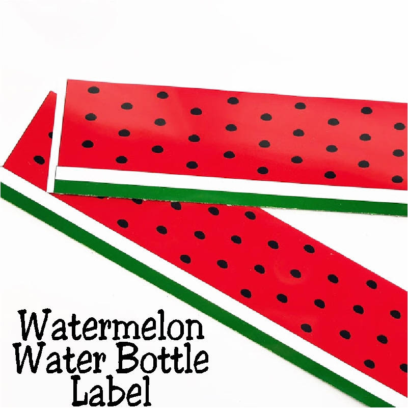 photograph regarding Watermelon Printable identified as Do it yourself Social gathering Mother: Watermelon H2o Bottle Label