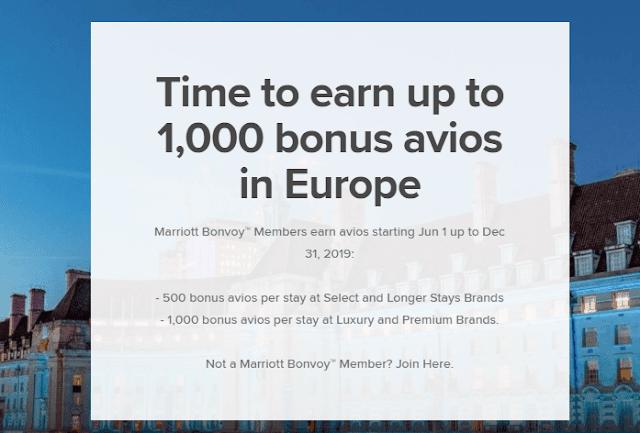 入住Marriott萬豪歐洲酒店 最多可贏取1,000 Avios獎勵積分!(12/31前)