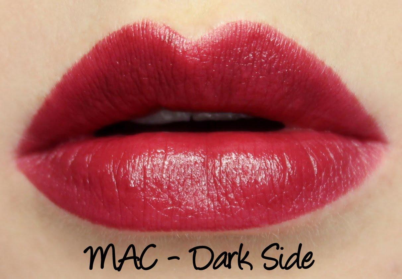 MAC Magic of the Night - Dark Side Lipstick Swatches ...