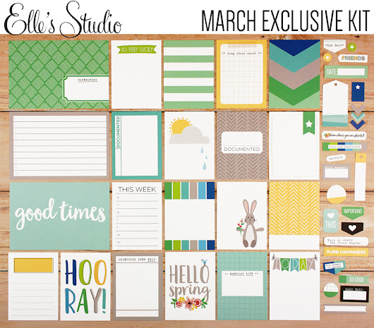 March kits and add ons from Elle's Studio