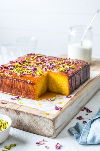 ORANGE, ALMOND & ROSE WATER CAKE