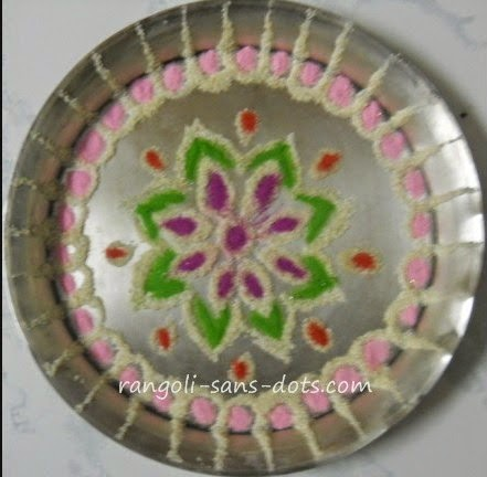 aarthi-plate-art-1.jpg & Plate art decoration ideas - thermocol  paper plate | Kolam by ...