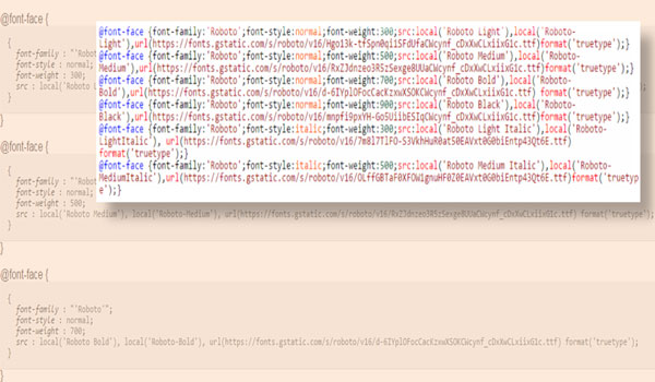 Cara Mudah Membuat Font Face Google Inline di HTML Blogger For Fast Loading