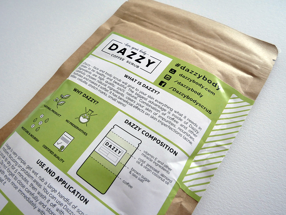 Dazzy coffee scrub review