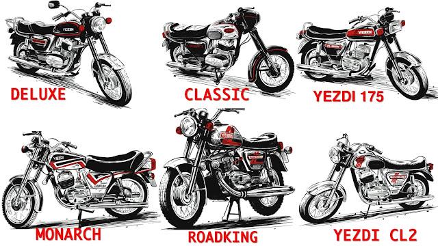 models of yezdi