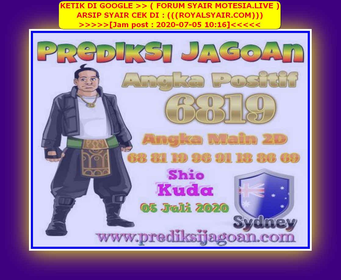 Kode syair Sydney Minggu 5 Juli 2020 107